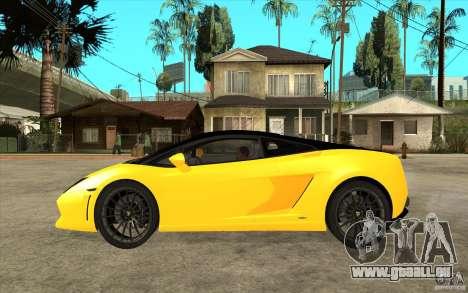 Lamborghini Gallardo LP560 Bicolore für GTA San Andreas linke Ansicht