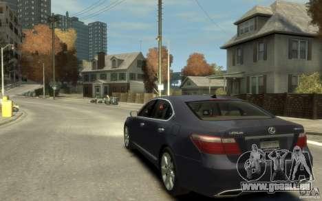 Lexus LS 600h L v1.1 für GTA 4 hinten links Ansicht