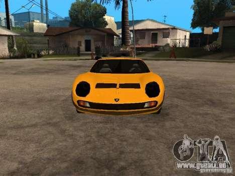 Lamborghini Miura pour GTA San Andreas vue arrière
