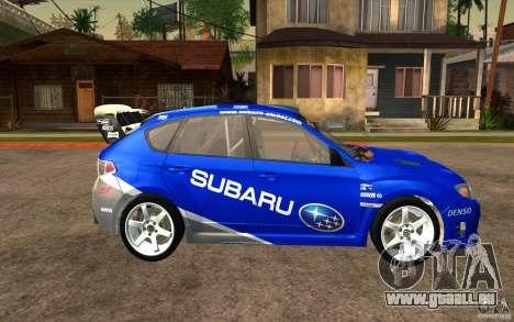 Neue Schallplatten bis Subaru Impreza WRX STi für GTA San Andreas Rückansicht