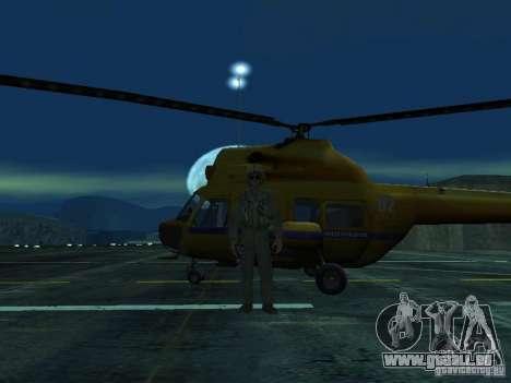 Mil Mi-2 Polizei für GTA San Andreas Innenansicht