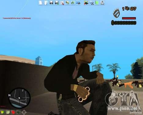 Smalls Chrome Gold Guns Pack für GTA San Andreas dritten Screenshot