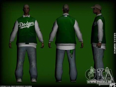 G.R.O.V.E. Skinpack pour GTA San Andreas sixième écran