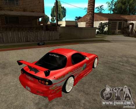 Mazda RX7 FnF für GTA San Andreas rechten Ansicht
