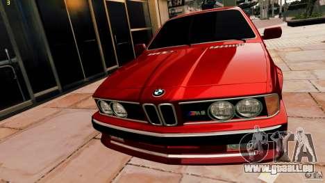 BMW M6 1985 Tuning Final für GTA 4 hinten links Ansicht