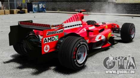 Ferrari F2005 für GTA 4 hinten links Ansicht