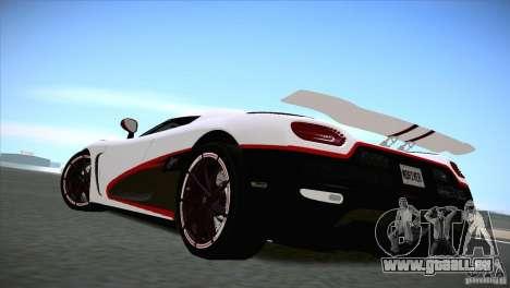 Koenigsegg Agera R 2012 pour GTA San Andreas vue de droite