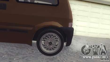 Fiat Cinquecento pour GTA San Andreas laissé vue