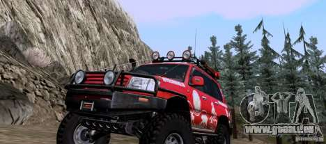 Toyota Land Cruiser 100 Off-Road pour GTA San Andreas laissé vue