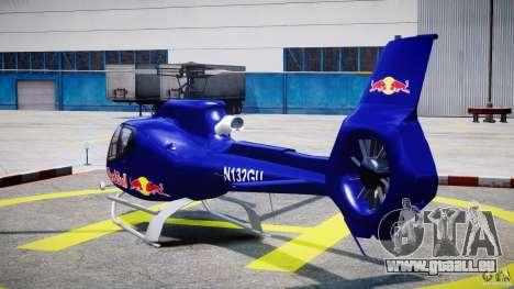 Eurocopter EC130 B4 Red Bull für GTA 4 hinten links Ansicht