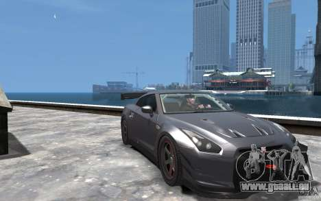 Nissan GT-R v1.1 Tuned für GTA 4 Rückansicht