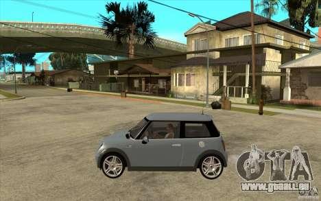 Mini Cooper - Stock pour GTA San Andreas laissé vue