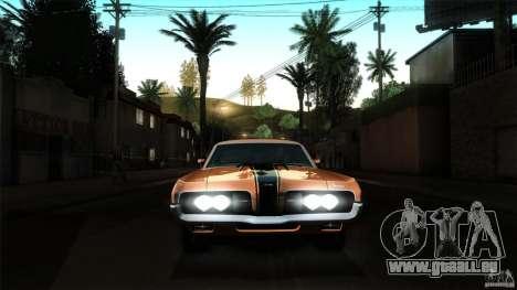 Mercury Cougar Eliminator 1970 pour GTA San Andreas vue de dessus
