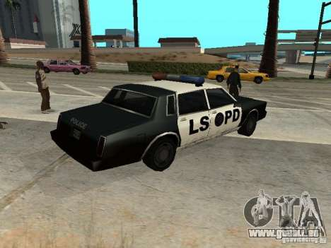 Tahoma Police für GTA San Andreas linke Ansicht