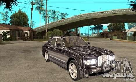 Bentley Arnage T pour GTA San Andreas vue intérieure