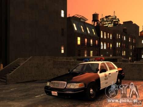 Ford Crown Victoria LAPD v1.1 [ELS] pour GTA 4 Vue arrière