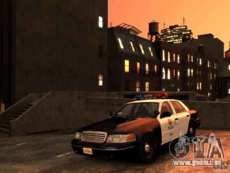 Ford Crown Victoria LAPD v1.1 [ELS] für GTA 4 Rückansicht