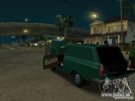 AZLK 434 für GTA San Andreas zurück linke Ansicht