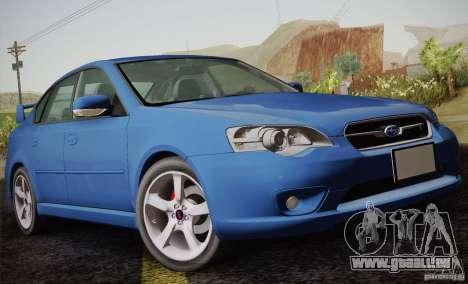 Subaru Legacy 2004 v1.0 pour GTA San Andreas vue de côté
