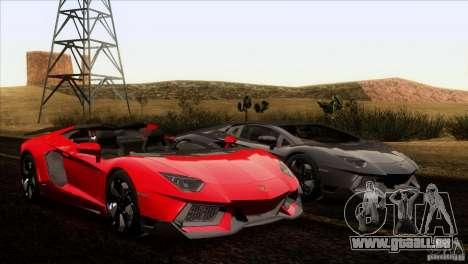 Lamborghini Aventador LP-700 J für GTA San Andreas Innen