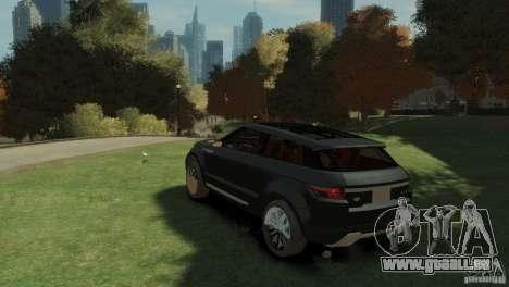 Land Rover Rang Rover LRX Concept pour GTA 4 est une gauche