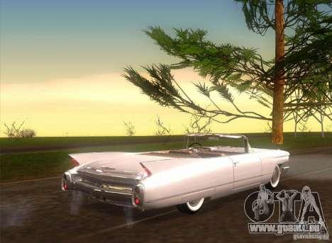 Cadillac Series 62 1960 für GTA San Andreas zurück linke Ansicht