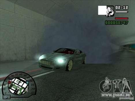 Fumée apparaissent sous les roues, comme dans NF pour GTA San Andreas deuxième écran