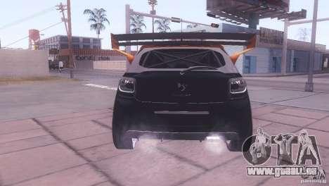 Citroen DS3 Tuning für GTA San Andreas Innenansicht