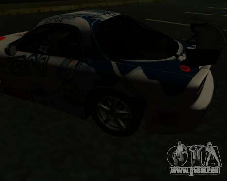 Mazda RX7 pour GTA San Andreas vue arrière