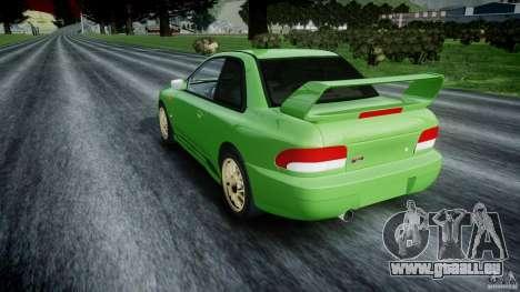 Subaru Impreza 22b 1998 (final) pour GTA 4 Vue arrière de la gauche