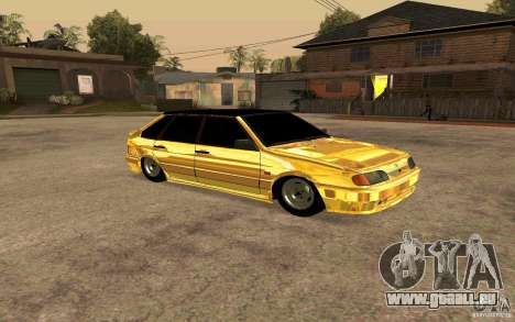 ВАЗ 2114-GOLD für GTA San Andreas linke Ansicht