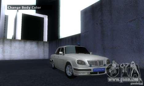 GAZ Volga 31105 Procureur pour GTA San Andreas vue de droite