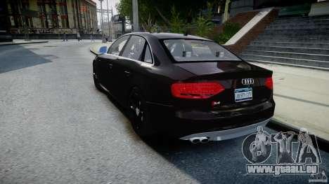 Audi S4 Unmarked [ELS] pour GTA 4 Vue arrière de la gauche