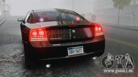 Dodge Charger RT Hemi FBI 2007 für GTA 4 Seitenansicht