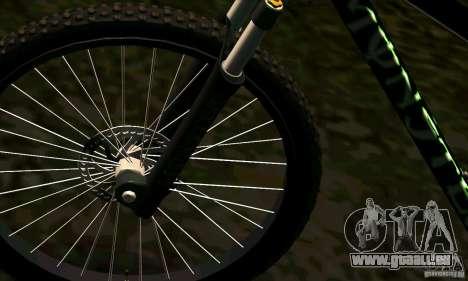 Vélo avec Monster Energy pour GTA San Andreas vue de droite