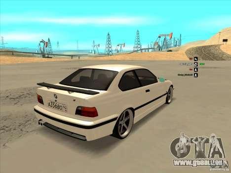 BMW M3 E36 für GTA San Andreas Rückansicht