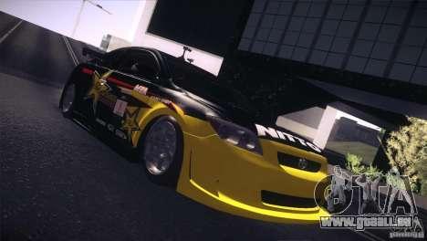 Scion TC Rockstar Team Drift pour GTA San Andreas sur la vue arrière gauche