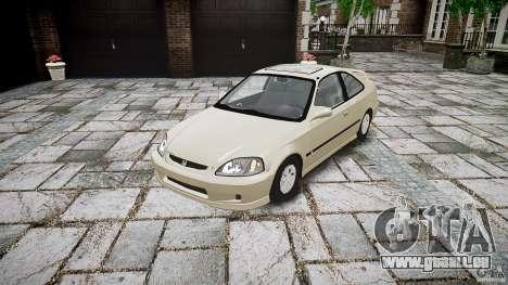 Honda Civic Coupe pour GTA 4 Vue arrière