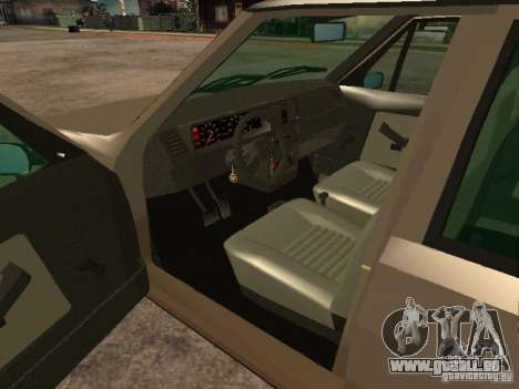 Fiat Ritmo pour GTA San Andreas sur la vue arrière gauche