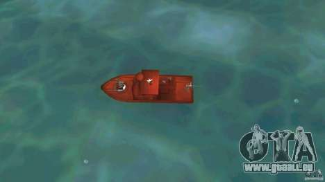 Patrol Boat River Mark 2 (Player_At_Guns) für GTA Vice City rechten Ansicht