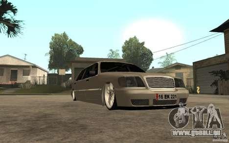 Mercedes-Benz S600 V12 W140 1998 VIP pour GTA San Andreas vue arrière