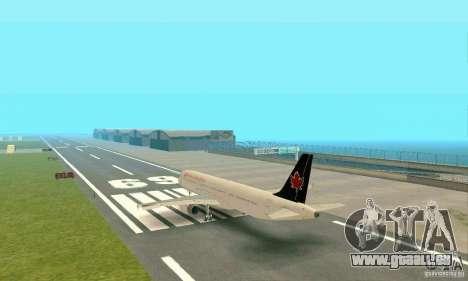 Airbus A321 Air Canada für GTA San Andreas rechten Ansicht