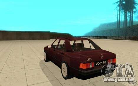 Mercedes-Benz 190 E (W201) 1984 version 1.0 pour GTA San Andreas sur la vue arrière gauche