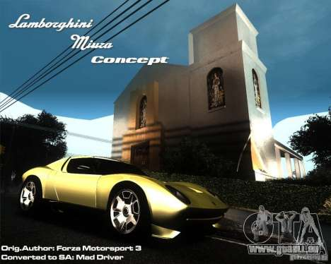 Lamborghini Miura Concept pour GTA San Andreas