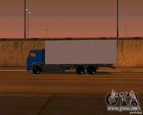 KAMAZ 65117 pour GTA San Andreas vue de côté