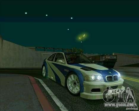 BMW M3 GTR Final pour GTA San Andreas