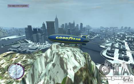 Dirigeable pour GTA 4 est un côté