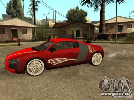 Audi R8 pour GTA San Andreas vue de dessus