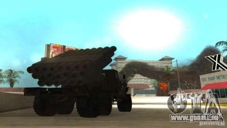 Ural 4320 Grad v2 pour GTA San Andreas vue de droite