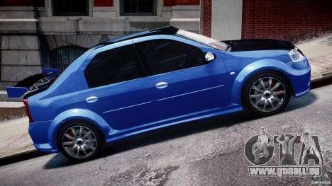 Dacia Logan 2008 [Tuned] für GTA 4 Seitenansicht